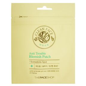 THE FACE SHOP - Пластыри от воспалений Clean Face Anti Trouble Blemish Patch